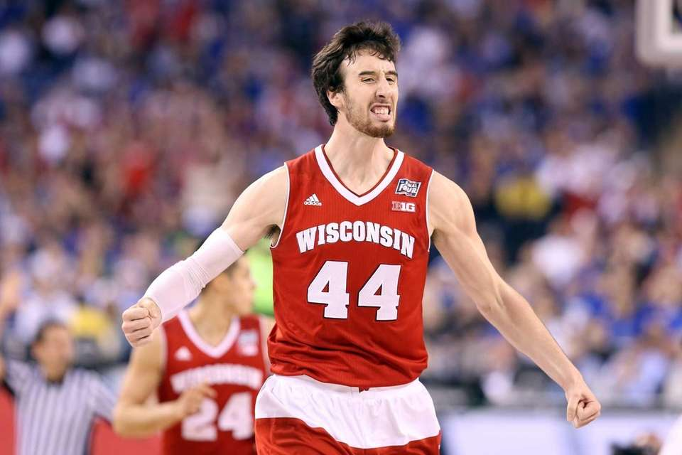 Frank Kaminsky of the Wisconsin Badgers celebrates after