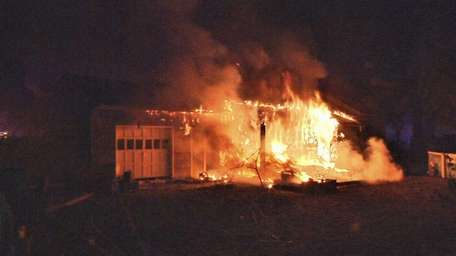 A man was injured in this fire on