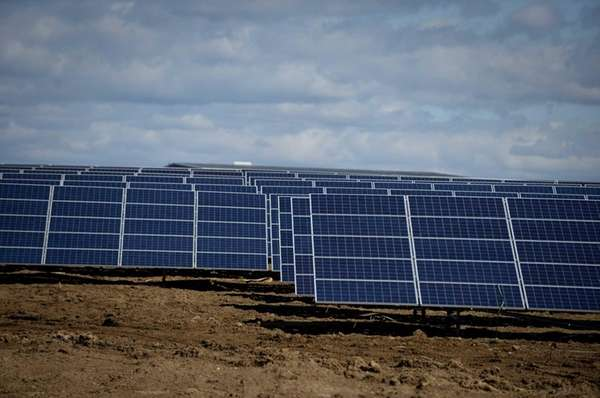The massive solar farm that is nearing completion