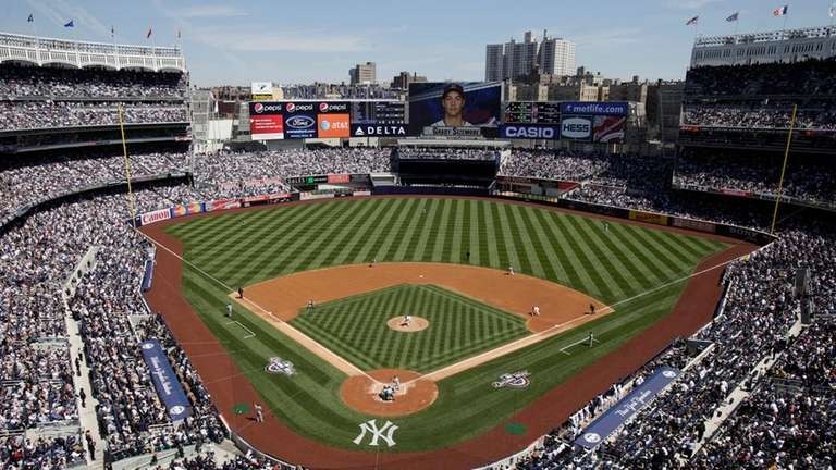 Fans attending the New York Yankees' 2015 Opening