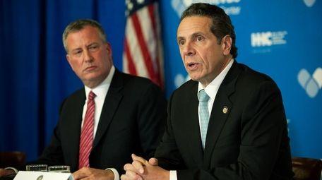 Mayor Bill de Blasio and Gov. Andrew Cuomo