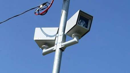 A speed cameras sat in front of the
