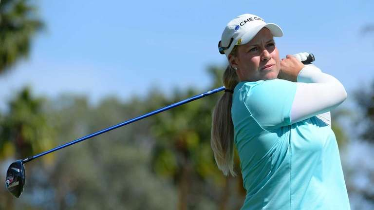 Brittany Lincicome makes a tee shot on the