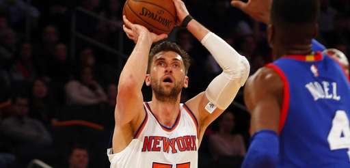 Andrea Bargnani of the New York Knicks takes
