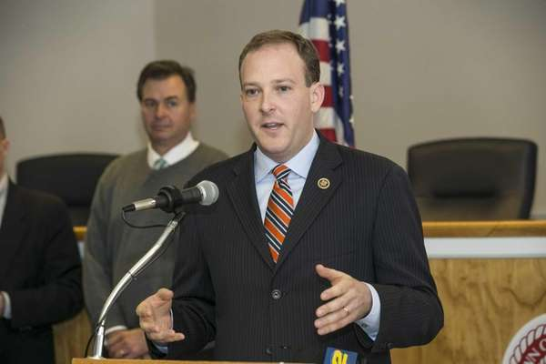 Rep. Lee Zeldin (R-Shirley) hosts a news conference