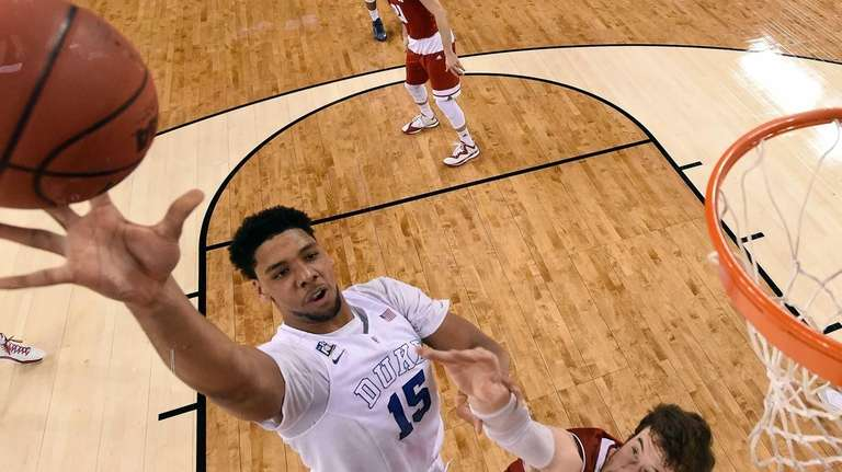 Jahlil Okafor of the Duke Blue Devils goes