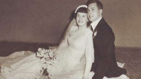 Judy and Alan Lewis on their wedding day,