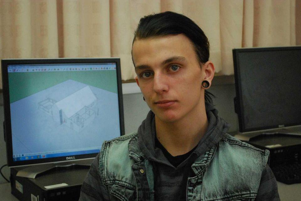 Brandon Boyle, 18, a North Babylon High School