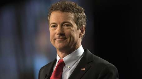 Sen. Rand Paul (R-Ky.) speaks during a rally