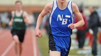 North Babylon junior Nicholas DiGiovanna stays ahead of