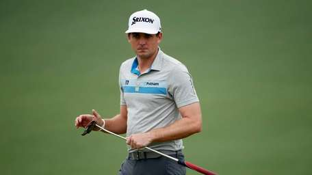 Keegan Bradley of the United States looks over