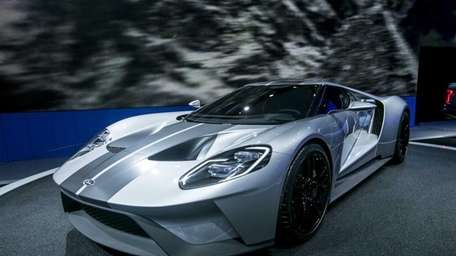 The 2017 Ford GT is exhibited on April