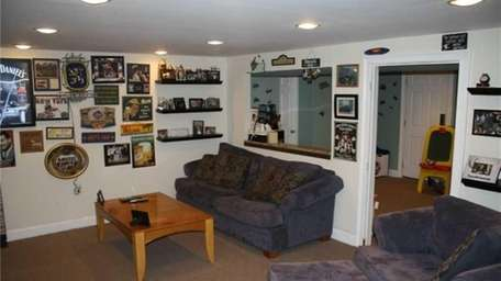 Currently used as a man-cave, a den for