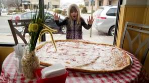 The 34-inch pie at La Semolina Pizza in