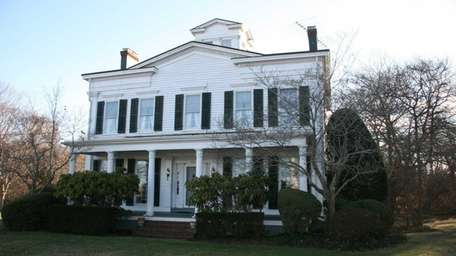 An 1837 Greek Revival-style house in East Patchogue,