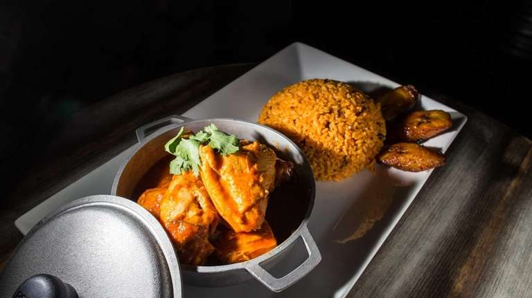 Chicken stew, or pollo guisado, is seasoned well