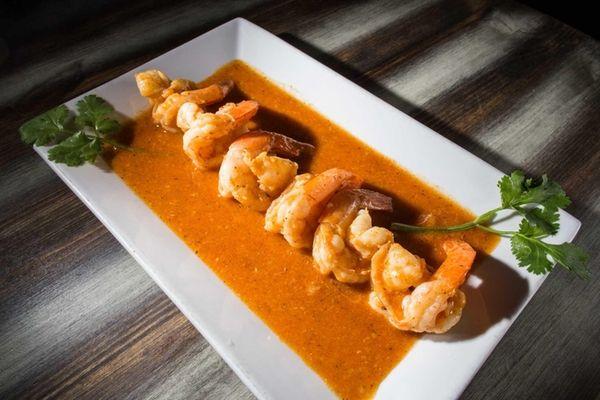 Shrimp in garlic sauce, or camarones al ajillo,