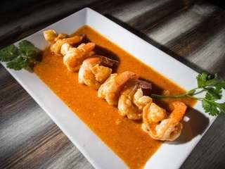 Shrimp in garlic sauce, or camarones al ajillo,