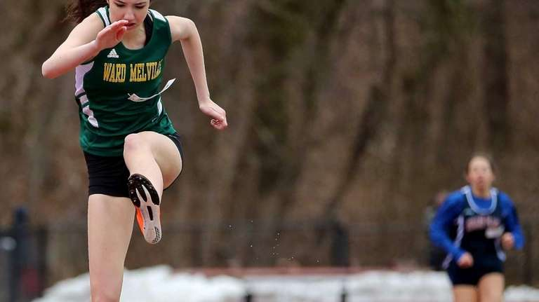 Ward Melville's Molly Dearie clears the last hurdle
