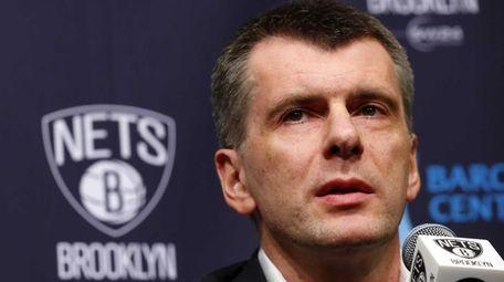 Brooklyn Nets owner Mikhail Prokhorov on April 8,