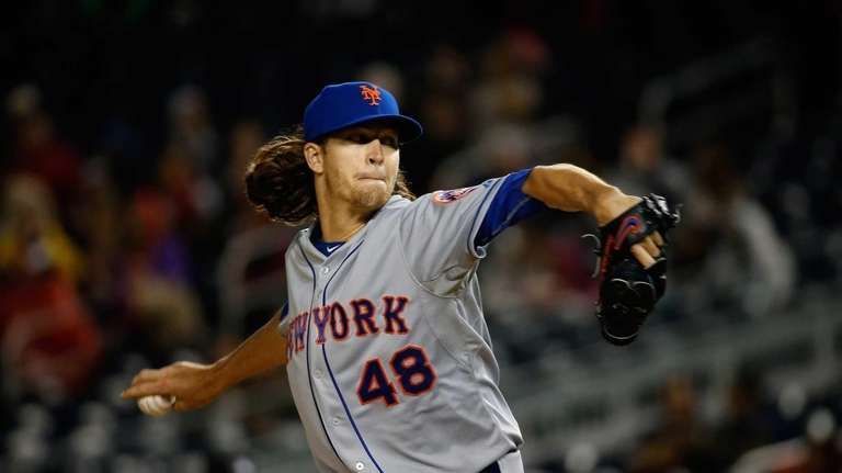 Starting pitcher Jacob deGrom of the New York