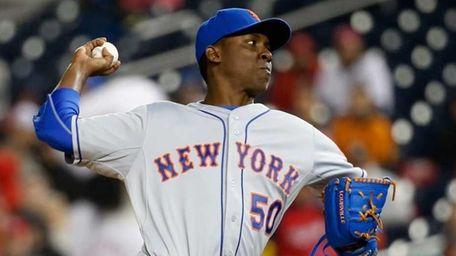 Pitcher Rafael Montero of the New York Mets