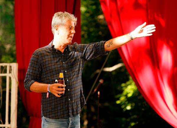 Anthony Bourdain speaks at the Great GoogaMooga 2012