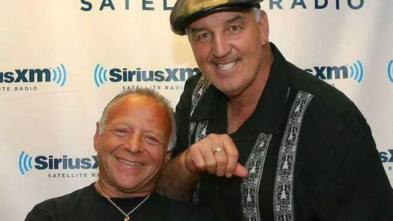 Boxing commentators Randy Gordon and Gerry Cooney for