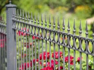 Repainting wrought-iron fences and railings can be done