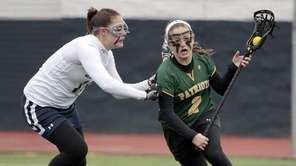 Ward Melville's Samantha Nemirov drives around Smithtown West's