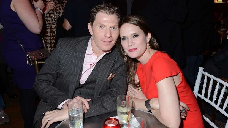 Chef Bobby Flay and actress Stephanie March attend