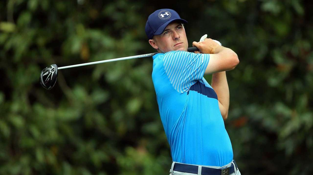 Jordan Spieth of the United States watches his