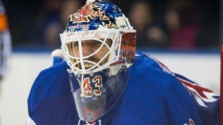New York Rangers goalie Henrik Lundqvist (30) in