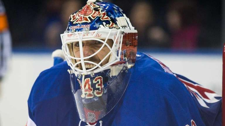 New York Rangers goalie Henrik Lundqvist (30) in