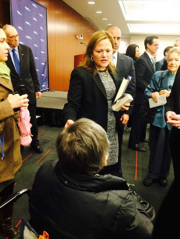 Melissa Mark-Viverito, the speaker of the New York