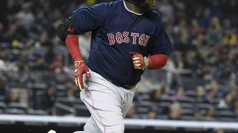 Boston Red Sox designated hitter David Ortiz runs