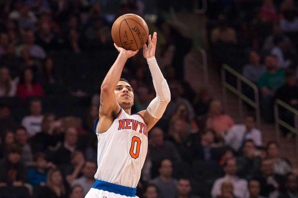 New York Knicks guard Shane Larkin attempts a