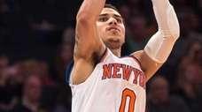 New York Knicks guard Shane Larkin attempts a