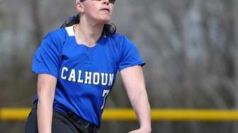 Calhoun pitcher Nicole Imhof delivers to the plate