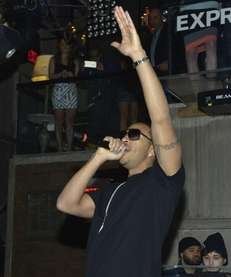Ludacris performs at the EXPRESS Launch Party For