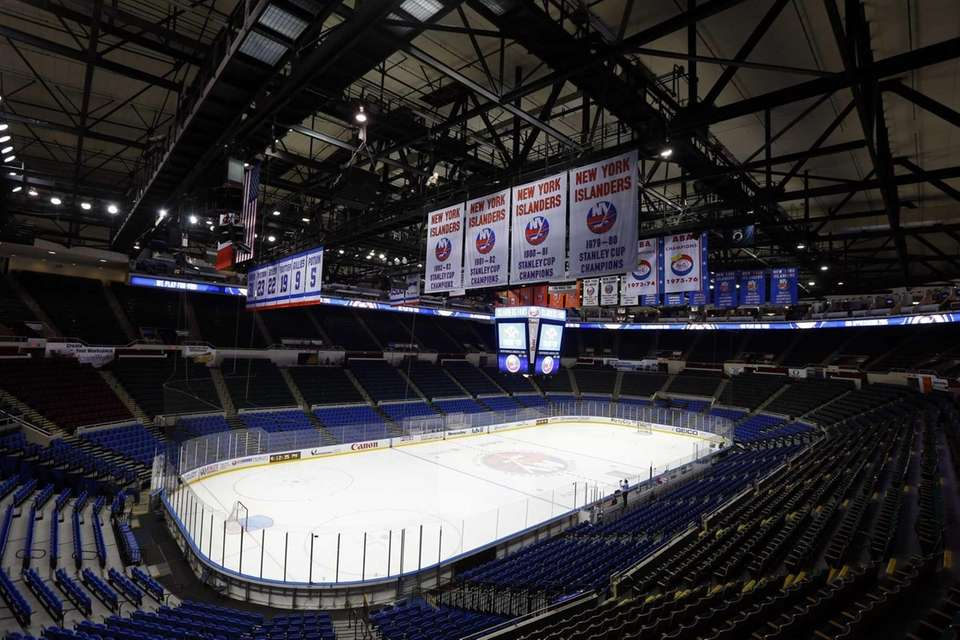 A general view of Nassau Coliseum prior to