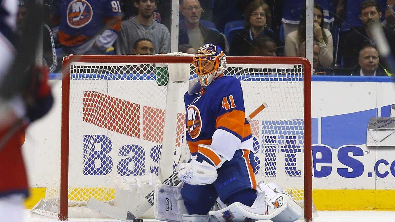 Jaroslav Halak of the New York Islanders looks