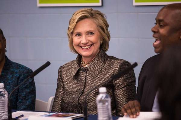 Former Secretary of State Hillary Clinton attends a