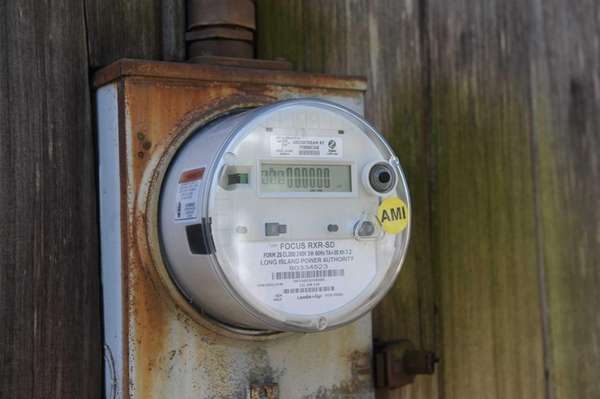 One of the 4,500 smart meters that LIPA