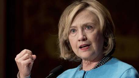 Hillary Clinton appears in an undated photo prior