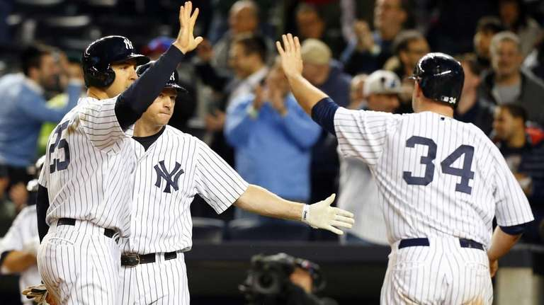 Mark Teixeira and Chase Headley of the New