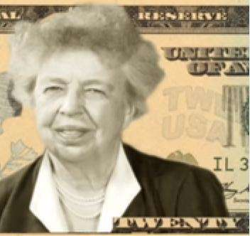 A $20 bill with Eleanor Roosevelt is proposed.