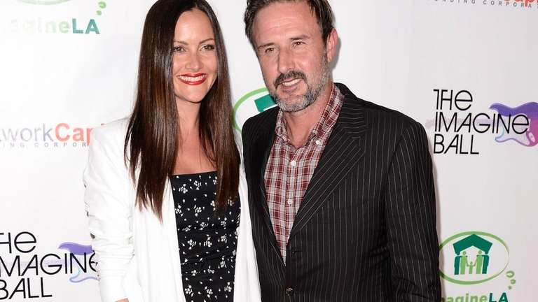 Christina McLarty and David Arquette arrive at The