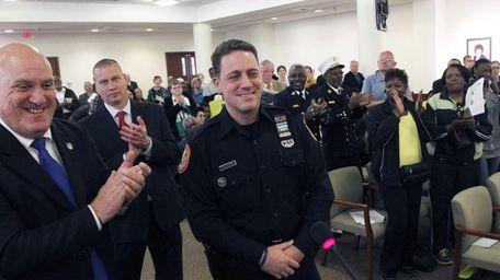 Nassau County Police Officer Nicholas Zaharis is named