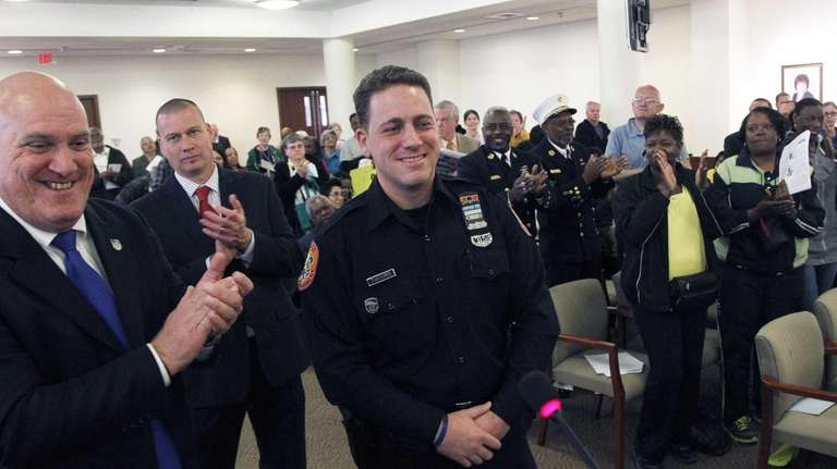Nassau County Police Officer Nicholas Zaharis is named